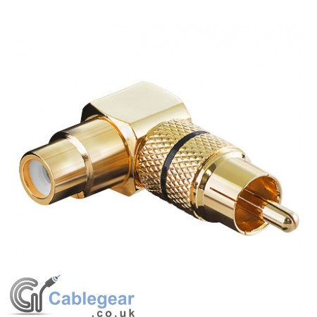 RCA Adapter Right Angled (Gold plated)