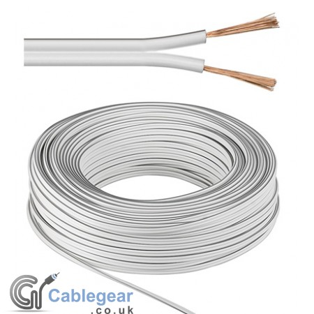 Speaker Cable 2 x 0.75 mm² White