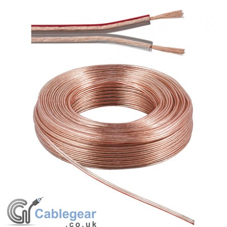 Speaker Cable 2 x 0.75 mm² Transparent