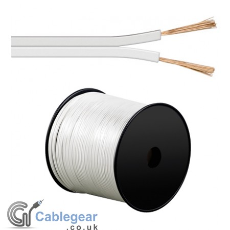 White 100m Speaker Cable 2 x 4 mm² CCA