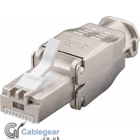 Tool-free CAT 6A STP RJ45 network connector