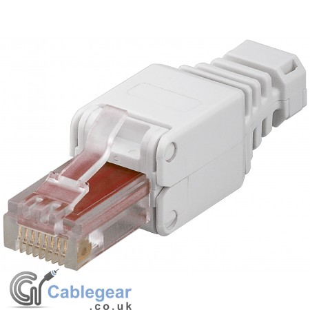 CAT 6 Tool-Free RJ45 Plug with Strain-Relief Boot