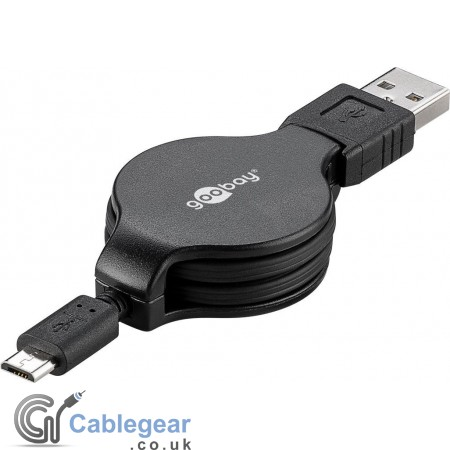 Retractable Micro USB Charging and Sync Cable