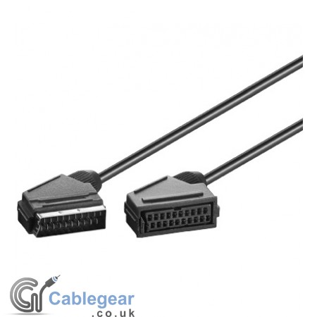 Scart Extension Lead (Male/Female) 21 pins