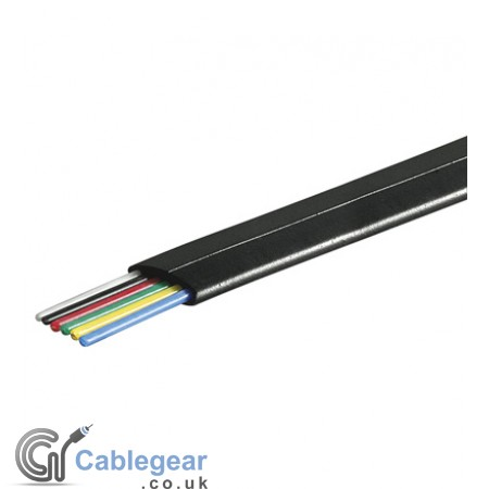 6 Core Telephone Cable Flat - 100m