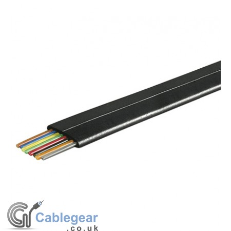 8 Core Telephone Cable Flat - 100m