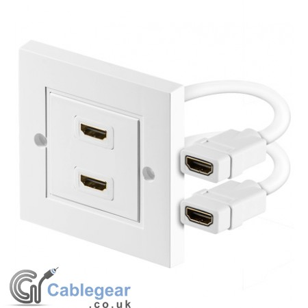 HDMI Wall Socket - 2 Port