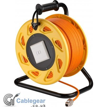 Mobile RJ45 Network Cable Extension Reel - CAT 7A