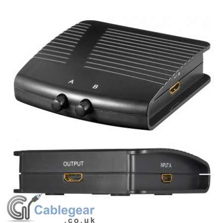 Manual HDMI switch box 2 IN / 1 OUT