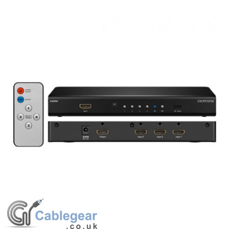 HDMI Switch 4 IN/1 OUT 3D