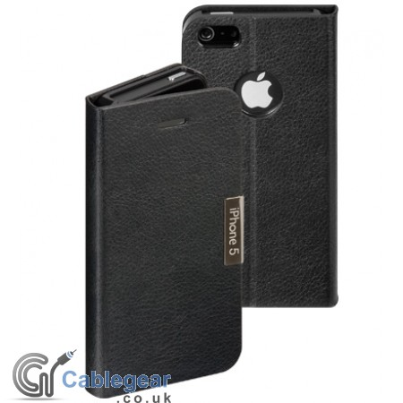 Leather Book case for iPhone 5