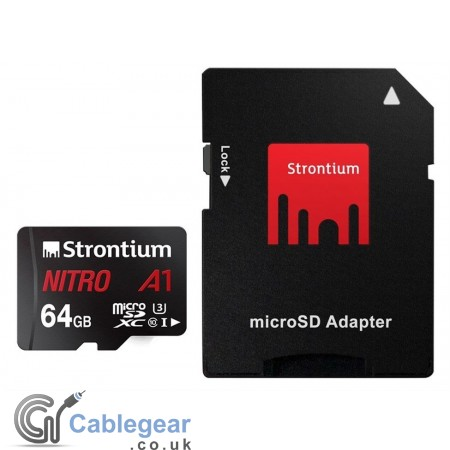 Micro SD A1 64 GB with SD Card Adapter