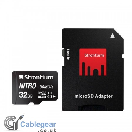 Strontium NITRO Micro SD 32 GB with Card Reader