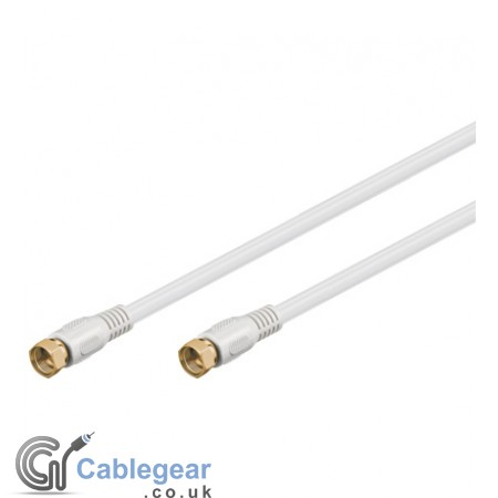 F-Plug to F-Plug cable (Gold plated)