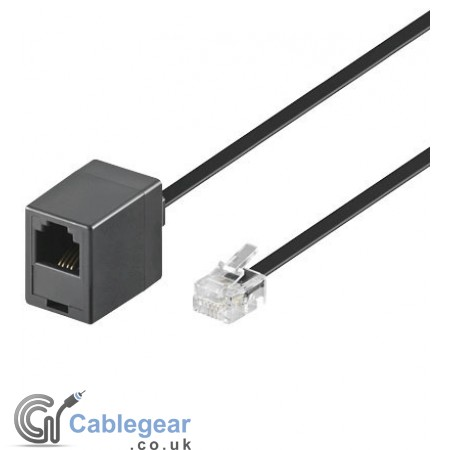 Telephone extension cable - 4 wire