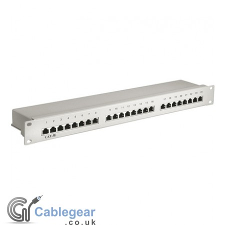 24-Port Shielded CAT 5e Patch Panel