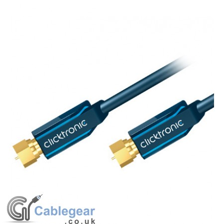Professional F Plug to F Plug Lead > 95 dB