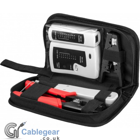 Tool set for telephone and network installation