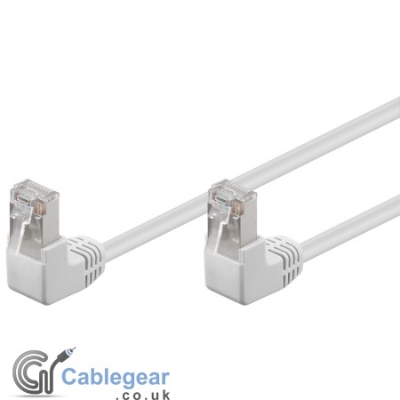 CAT 5e UTP Patch Cable - 2 x 90° RJ45 plugs