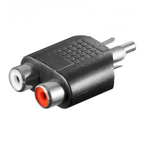RCA Plug to 2 x RCA socket Adapter