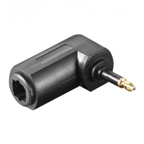 Right angled Toslink Adapter 3.5 mm to Toslink mini Plug