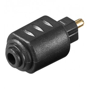 Toslink Adapter 3.5 mm mini Plug to Standard Toslink Plug