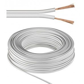 Speaker Cable 2 x 0.5 mm² White