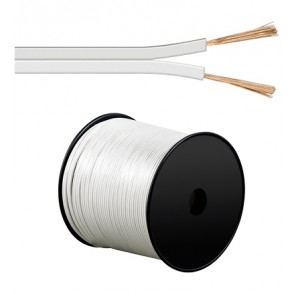 White 100m Speaker Cable 2 x 1.5 mm² CCA