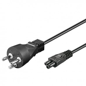 Power cable Denmark plug Type K to IEC C5  (Clover Leaf) - 2m