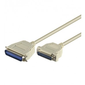 Printer cable D-SUB 25 to 36 pin Centronic plug