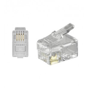 RJ10 Modular Plug 4P4C for flat cable