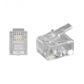 RJ11 Modular Plug 6P4C for flat cable