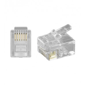 RJ12 Modular Plug 6P6C for flat cable