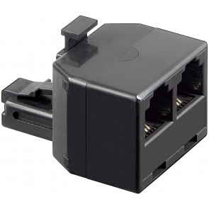RJ11 Plug  to 2 x  RJ11 Female Adapter