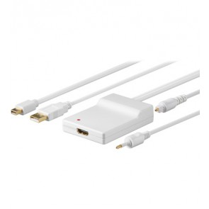 DisplayPort-Adapter Mini DP + Toslink + USB > HDMI™