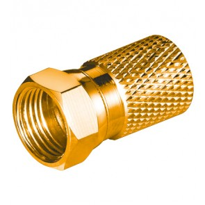 Wide Twist-On F-Plug ø 8.2 mm - 20 mm (Gold plated)