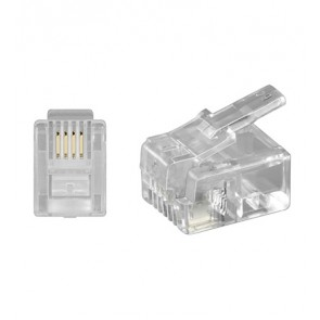 RJ11 Modular Plug 6P4C for round cable