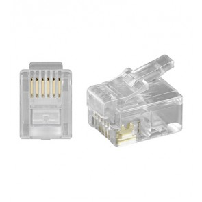 RJ12 Modular Plug 6P6C for round cable