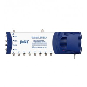 Multiswitch with 5 IN / 8 OUT QUAD-LNB compatible