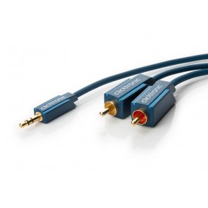 Professional Audio Cable 3.5mm to 2 x RCA