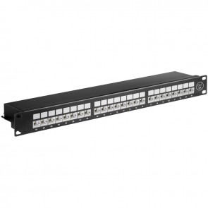 CAT 6A Ethernet patch panel 24 port STP shielded
