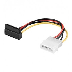 4 pin 5.25 to SATA power adapter cable (RA)