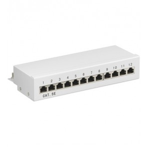 12-Port Shielded CAT 5e Patch Panel