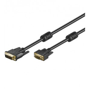 DVI-I (12+5) plug to SVGA 15 pin Plug - Gold Plated