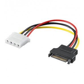 SATA power adapter to 4 pin 5.25 Plug