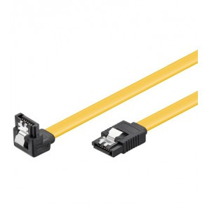 SATA Cable 6GBs/90° L-(down) Plug with lock