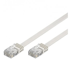 Flat CAT 6 UTP Ethernet Cable - White