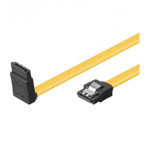 SATA Cable 6GBs/90° L-(up) Plug with lock