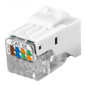 CAT 5 Modular Keystone Jack - RJ45 (8P8C) - Toolless